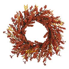 18 in. Harvest Berry Artificial Wreath