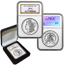 1881 MS64 NGC S-Mint Morgan Silver Dollar
