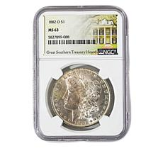 1882-O MS63 NGC Morgan Silver Dollar - Great Southern Treasury Hoard