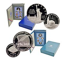 1986 and 1987 S-Mint Symbols of Freedom Proof Sets