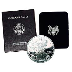 1997 P-Mint Proof Silver Eagle Dollar Coin
