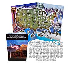 1999-2009 Complete Set of 56 State & Territorial Quarters w/Map Folder