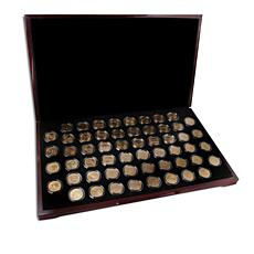 1999-2009 State/Territorial 56-Coin 24K Presentation Gold Quarter Set