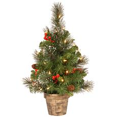 2' Crestwood Spruce Entrance Tree w/Lights