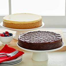 """2-pack 10"""" 4.25 lb. New York & Chocolate Cheesecakes Auto-Ship®"""