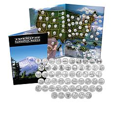 2010-2021 Set America the Beautiful National Park Coins w/Map Folder