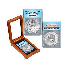 2012 SP70 ANACS Satin-Finish Silver Eagle Dollar Coin