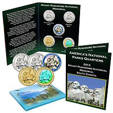 2013 Mount Rushmore National Memorial 5pc Quarter Set