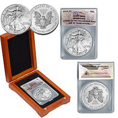 2015 MS69 ANACS Silver Eagle Dollar Coin