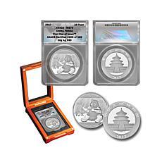 2017 ANACS MS70 FDOI LE 588 Chinese Silver Panda Coin