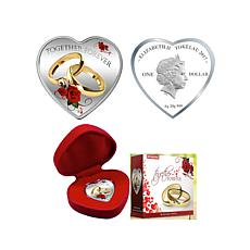 "2017 Colorized ""Together Forever"" Heart Silver Coin"