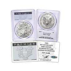 2017 MS70 PCGS Premier Label First Edition Silver Eagle