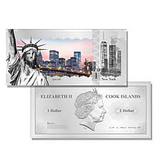 2017 New York City Skyline Cook Islands 5g Silver Bill