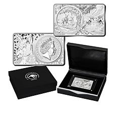 2018 25th Anniversary Limited Australia Kangaroo Dollar/2oz Silver Bar