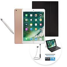 "2018 Apple iPad® 9.7"" 128GB Tablet w/Apple Pencil & Keyboard Case"
