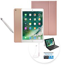 "2018 Apple iPad® 9.7"" 32GB Tablet w/Apple Pencil & Keyboard Case -Gold"