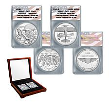 2018 PR70 FDOI WWI Centennial Silver Dollar and Air Service Medal Set