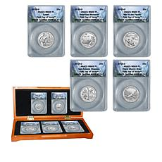 2019-D MS69 PL FDOI LE 742 National Parks Quarters 5-Coin Set