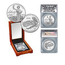 2019 PR70 ANACS FDOI LE 36 $100 Platinum Eagle - Liberty
