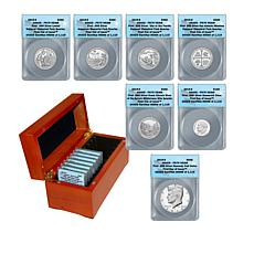 2019 PR70 DCAM FDOI Limited Edition 7-Coin 99.9% Silver Set