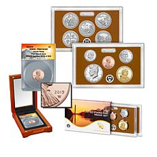 2019 United States Mint Clad Proof Set and PR69 FDOI LE Lincoln Penny