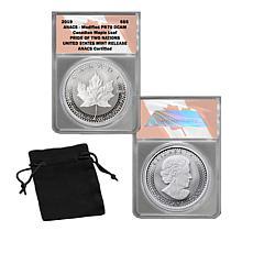 2019 U.S. Pride of 2 Nations Modified PR70 $5 Canada Silver Maple L...