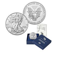2019 W-Mint Uncirculated Satin Finish Silver Eagle Dollar Coin