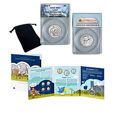 2019-W MS67 Lowell National Park Quarter & Explore and Discover Set