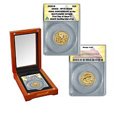 2020 RP70 ANACS FDOI LE 11 $10 Gold Mayflower 400th Anniversary Coin