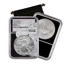 2021 MS69 NGC Silver Eagle Type 1 Dollar Coin with Silver Eagle Core