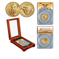 2021 MS70 First Day of Issue Limited Edition 221 Type II $5 Gold Eagle