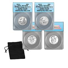 2021 PF70 ANACS FDOI LE 526 Advance Release Silver Proof Set Quarters