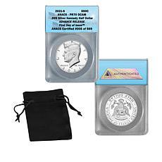 2021 PF70 ANACS FDOI LE 569 Advance Release Silver Kennedy Half Dollar