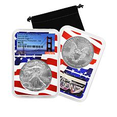2021 S-Mint NGC MS70 Emergency Silver Eagle Dollar Coin with Flag Core