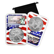 2021 W-Mint NGC MS70 Early Releases Flag Core Silver Eagle Dollar Coin