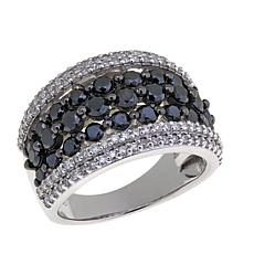2.02ctw Black and White Diamond Band Ring