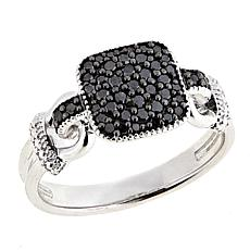 .24ctw Colored Diamond Square Cluster Sterling Silver Ring