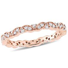 .24ctw White Diamond 14K Rose Gold Eternity Band Ring