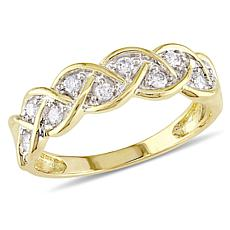 .25ctw Diamond 10K Braid-Design Ring