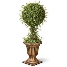 3' Artifical Topiary Mini Tea Leaf 1-Ball Tree