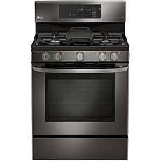 "30"" Freestanding Gas Range - Black Stainless Steel"