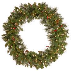 "36"" Crestwood Spruce Pre-Lit Wreath"
