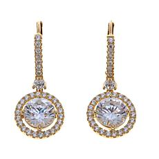 3.64ctw Absolute™ 14K Yellow Gold Round Drop Earrings