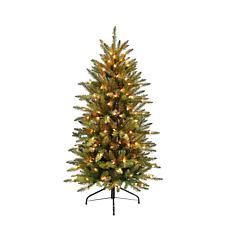 4.5' Franklin Fir Pencil Artificial Christmas Tree - 150 Clear Lights