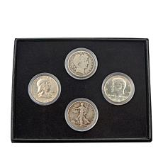 4pc 20th Century Circulated 90% Silver Half Dollars