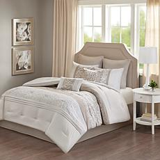 510 Design Ramsey Embroidered 8-Piece Comforter Set Neutral Queen