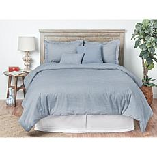 5pcs Oxford Stripes Comforter Queen Set