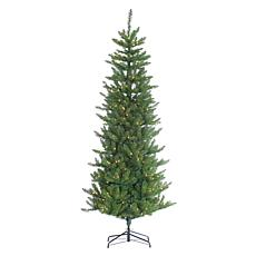 7-1/2' Pre-Lit Narrow Augusta Pine Tree - 400 Clear Lights
