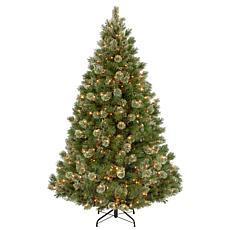 7-1/2' Wispy Willow Medium Tree w/Lights