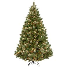 7-1/2' Wispy Willow Medium Tree w/Lights